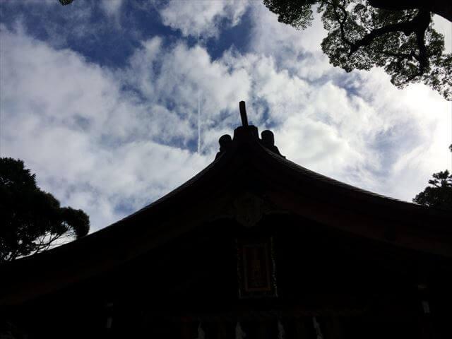 竈門神社(かまどじんじゃ)から見た青空と雲
