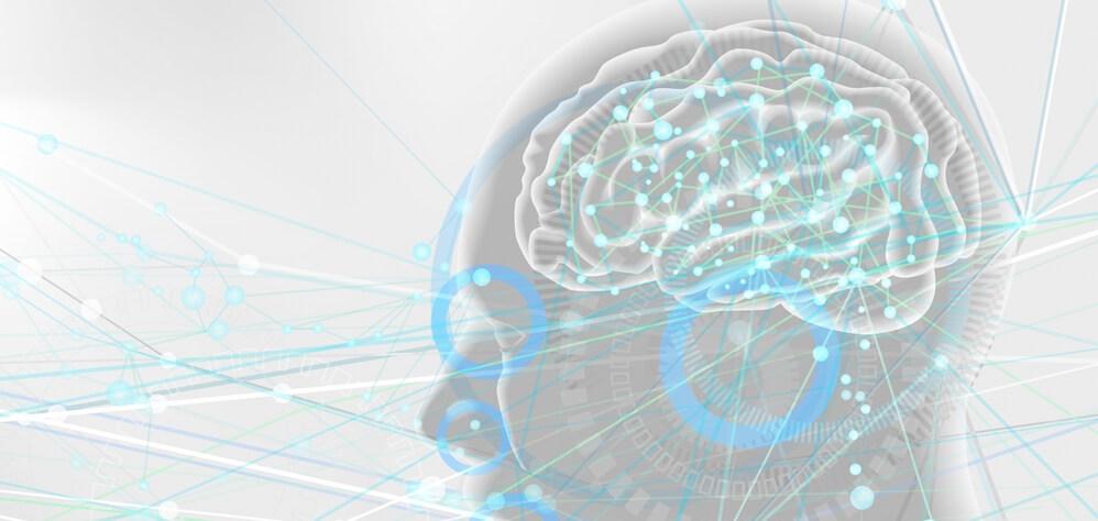 人工知能AIと五感の伝達イメージ-白