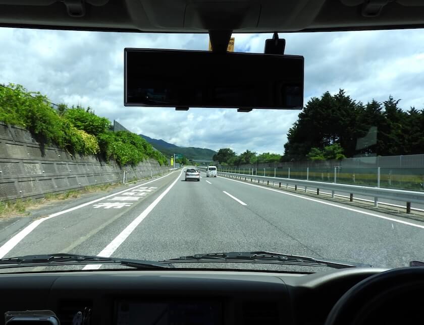 高速道路走行中の写真