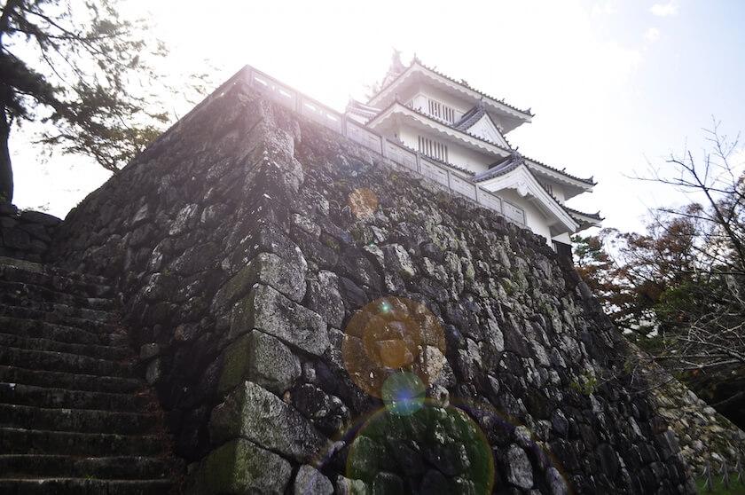お城の石垣のアップ
