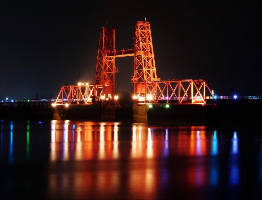 昇開橋の夜景