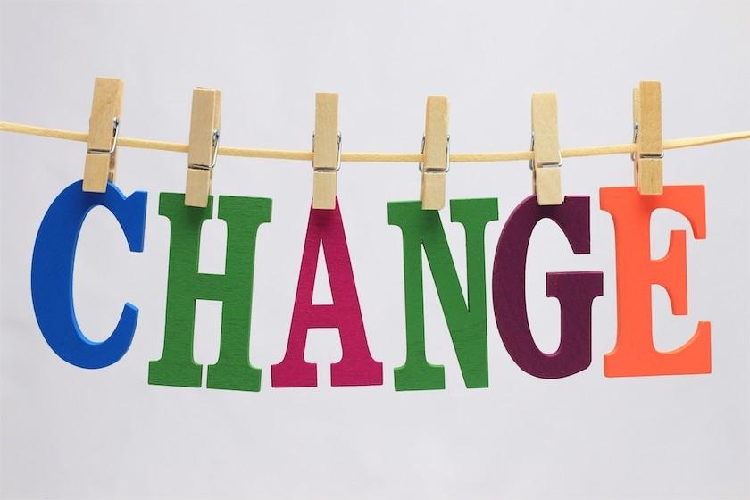 changeの文字